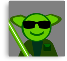 Yoda Shades Canvas Print