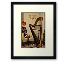 Golden Victorian Harp ~ Heavenly Framed Print