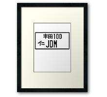 License Plate - JDM  Framed Print