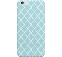 Moroccan Trellis, Latticework - Blue White iPhone Case/Skin