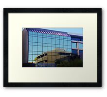 Reflections In A Perth Building Framed Print
