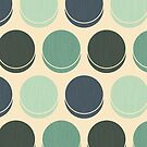 Gloomy Ocean Polka Dots (Card Version) by Lisa Marie Robinson