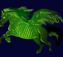 Thestral #Green by slaterkerry