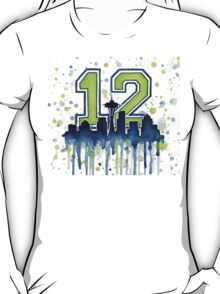 Seattle Seahawks 12th Man Fan Art T-Shirt