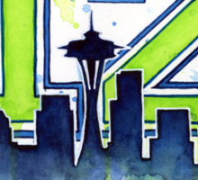 Seattle Seahawks 12th Man Fan Art Sticker