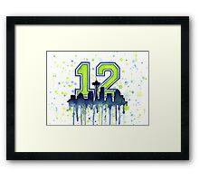Seattle Seahawks 12th Man Fan Art Framed Print