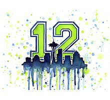 Seattle Seahawks 12th Man Fan Art Photographic Print