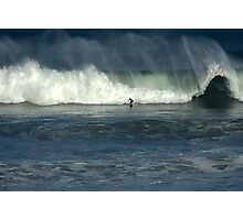 Surfing at Bell's Photographic Print