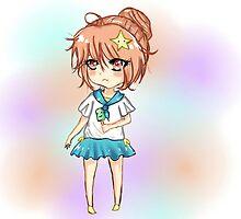 kawaii summer chibi by Chokocake