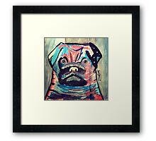 Abstract painted pug items  Framed Print