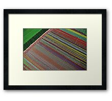 Tulip Table Cloth (Aerial view of tulip field) Framed Print