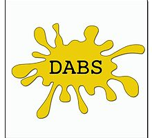 Dabs Oil Splatter by 420Stickers