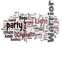 Final Fantasy III Word Cloud by Ryan Bamsey