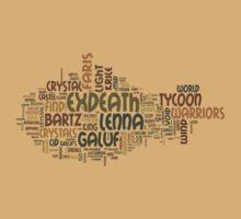 Final Fantasy V Word Cloud by Ryan Bamsey