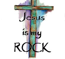 Jesus is my Rock by Linda Ginn Art