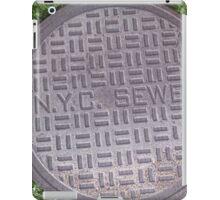 NYC sewer iPad Case/Skin