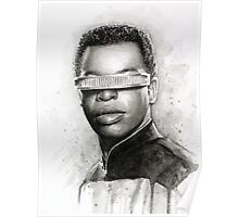 Geordi La Forge Portrait Star Trek Art Poster