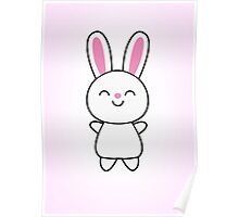 Cute Rabbit / Bunny Poster