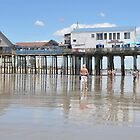 Lowest Tide...Old Orchard Beach & Pier by Poete100