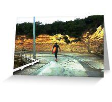 Surfer homeward bound at Port Campbell Vic. Aust. Greeting Card