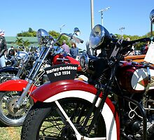 Vintage Motorcycles At Rest by Johnnyagogo