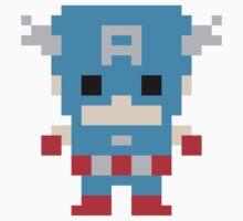 Captain America Pixel Art by kiwisamt