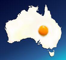 Fried Egg Cartography - Australia 2 by ArtByRuta
