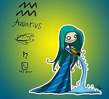 Astrology - Aquarius by OddworldArt