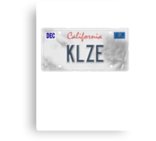 License Plate - KLZE Canvas Print