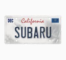 License Plate - SUBARU by TswizzleEG