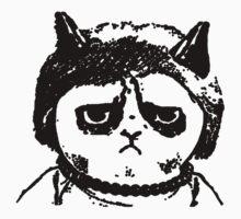 Grumpy Merkel Cat by nektarinchen