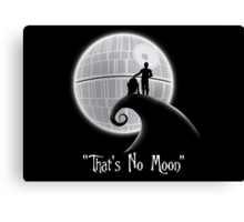 That's No Moon Canvas Print