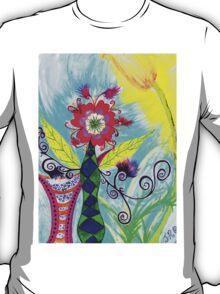 """Chex Floral"" by Jessie R Ojeda T-Shirt"