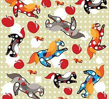 Horses in apples by Avrora-slip