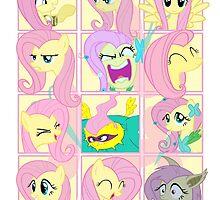 Mirror Pool of Pony - Fluttershy by ForeverDarkrai