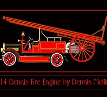 1914 Dennis Fire Engine by Dennis Melling by Dennis Melling