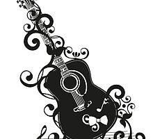 Acustic Guitar by boardingtheark