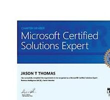 Microsoft Certified Solutions Developer by midastrave