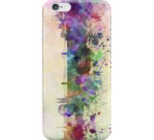 Budapest skyline in watercolor background iPhone Case/Skin