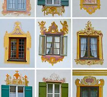 The Windows of Oberammergau, Germany by Tricia Mitchell
