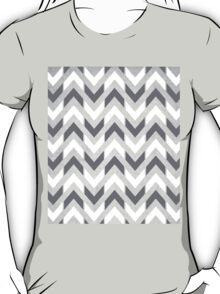 Grey & White Herringbone Chevron T-Shirt