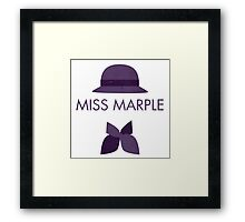 Miss Marple Framed Print