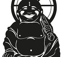 Buddha with Umbrella by boardingtheark