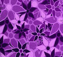Purple Vintage Trendy Floral Pattern by Nhan Ngo