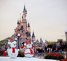 Sleeping Beauty Castle - Christmas Décor (Disneyland Paris) by ThatDisneyLover