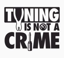 Tuning is not a crime Kids Clothes