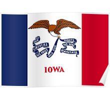Iowa State Flag Poster