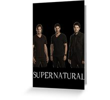 Supernatural - Jared, Jensen & Misha Greeting Card
