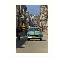 Street scene, Havana, Cuba Art Print