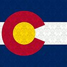 Flag of Colorado Damask Pattern by iEric
